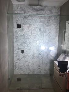 frame less shower screen